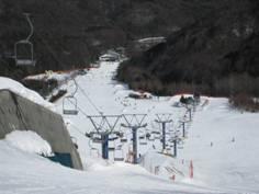 「あららぎ高原スキー場」、そして「不動温泉 華菱(はなびし)」