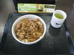 「摘み菜料理」、そして「なか卯」の「和風牛丼」
