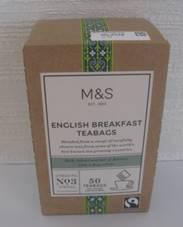 「赤毛のアン 卒業」、そして「M&S ENGLISH BREAKFAST TEABAGS」